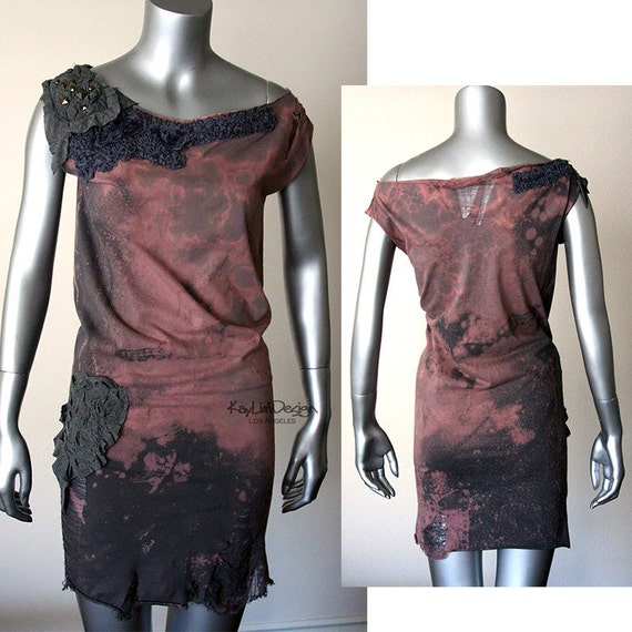 One of a kind reconstructed tunic dress KD178