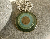 Retro Beach Sand Pendant Necklace by AnneMadeDesigns