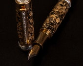 Glittering Gold and Silver Fountain Pen.