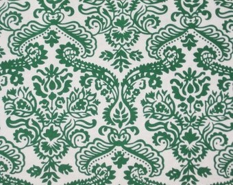 Dainty Damask Green White Scroll Michael Miller