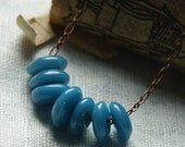 Bliss Street Recycled Glass Necklace- Aqua