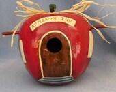 Apple Cottage Bird House Gourd