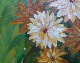 Dahlia Bouquet Original Painting