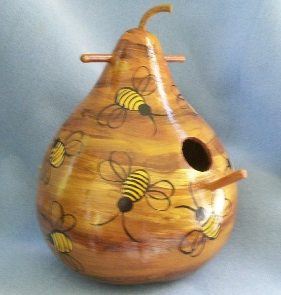 Bee Hive Art Gourd Bird House