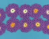Hand tatted daisy flowers.10 (1N)