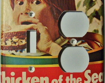 Mmmm, Chicken of the Sea - Combo Lightswitch/Outlet Cover