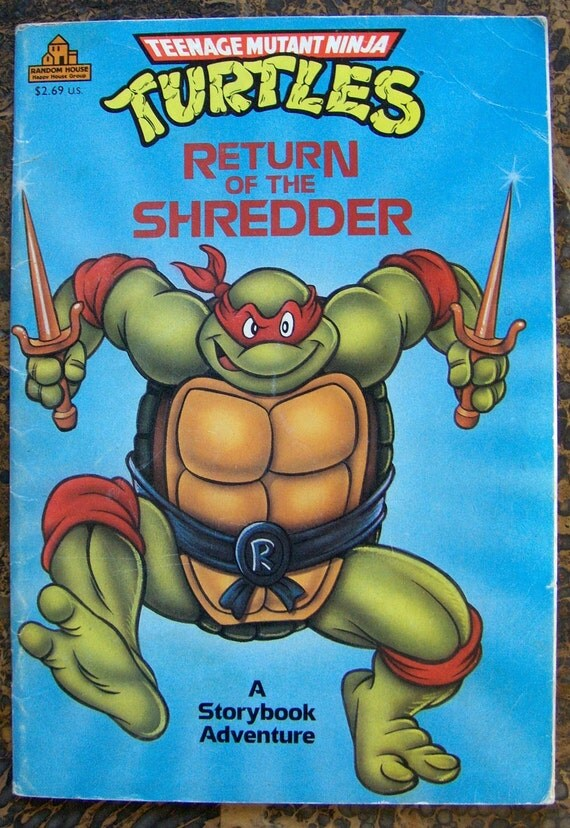 Teenage Mutant Ninja Turtles VINTAGE Book
