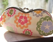 Hippie Flakes clutch . teardrop flakes in pastel colors