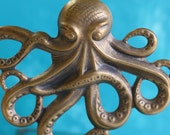 XL Octopus, Hand Finished Antiqued Patina (WCXL)