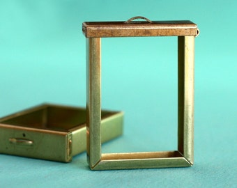 1pc Large Flip Top Box Frame, Unfinished Brass (1BFB)