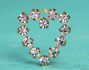 2pc Swarovski Crystal Heart Pendant (PH1C)