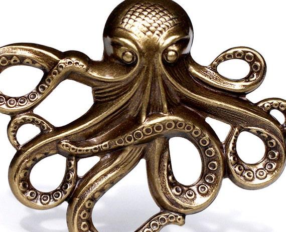 XL Octopus, Oxidized Brass (WCXL-BX)