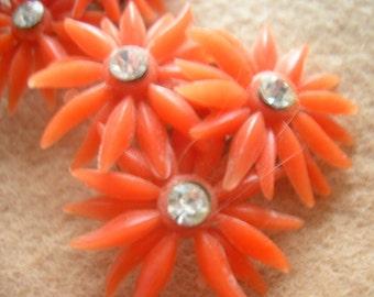 60s flower power earrings