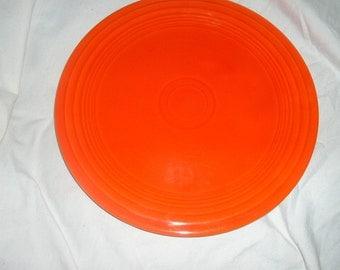 fiesta older red luncheon plate