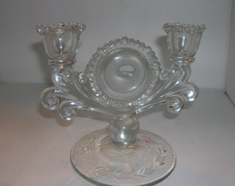 beautiful padan city crystal double light candlestick