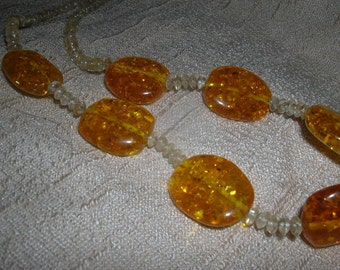 amber and citrine necklace