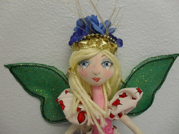 TEA ROSE QUEEN soft jointed fairy doll