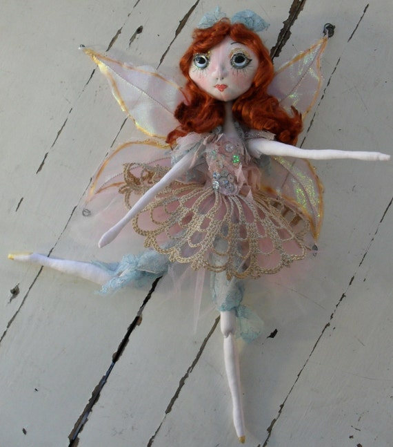 TEA FAIRY soft jointed fairy doll