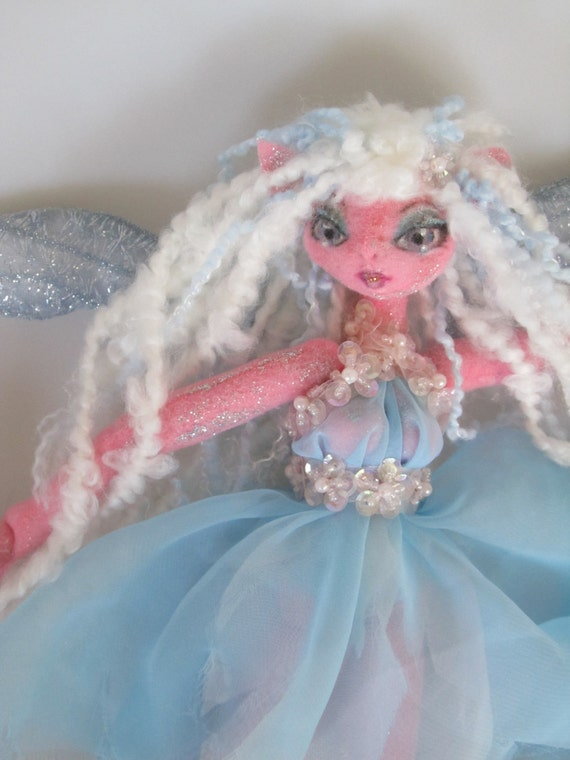 Midnight Summer's Dream Doll, Attending fairy PEASEBLOSSOM, soft rag doll, OOAK