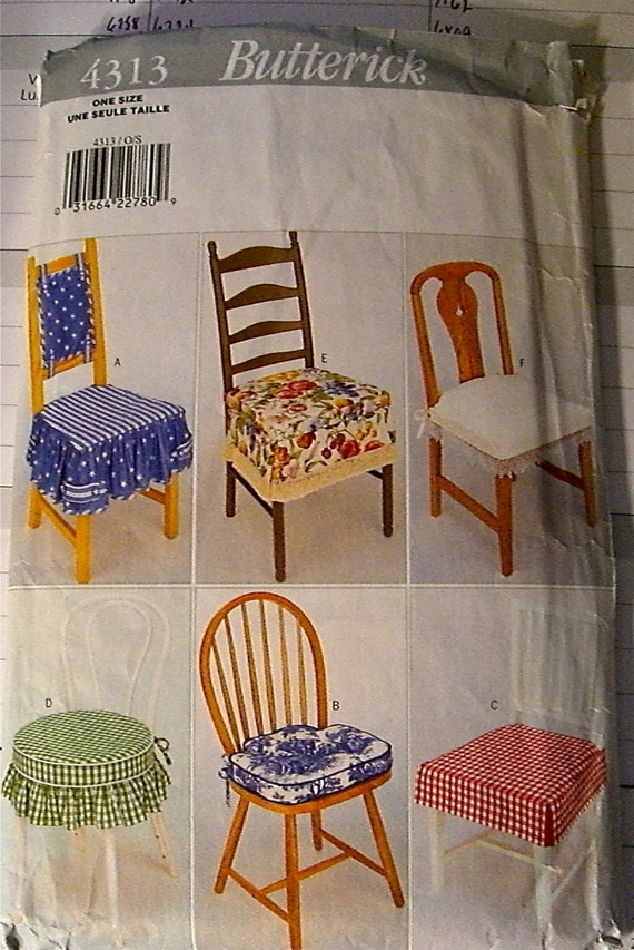 Butterick Pattern 4313 Chair Cushion Pattern