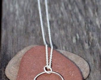 Bubbles Necklace on Silver Chain
