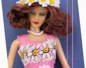 "New Hankie Couture 11 1/2"" Plastic Doll Short hair Brunette  Same Body as Barbie doll"