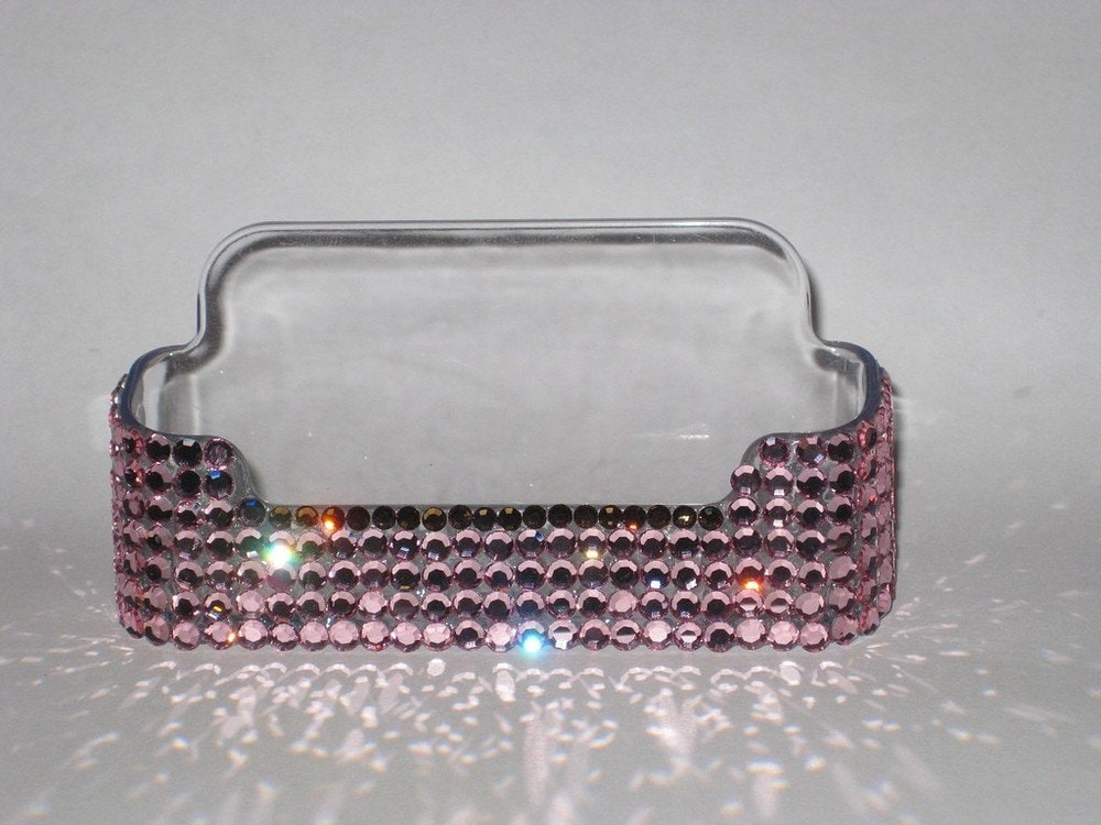 Crystal bling business card holder by blingdivas on etsy for Bling business card holder