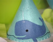 Felt Party Hat  - Whale and Friends