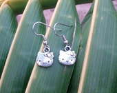 Hello Kitty . Mini Silver Earrings with FREE SHIPPING