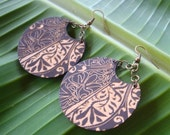 CLOSEOUT SALE 25% off everything-use code 25OFF at checkout - Koa . Carved Tattoo Earrings with free shipping
