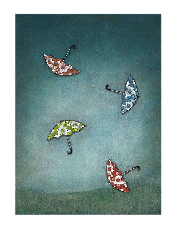 Here comes the rain-Print