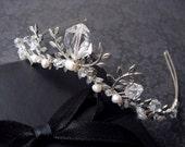 Delicate Bridal Tiara Perfect For Beach Brides - READY TO SHIP