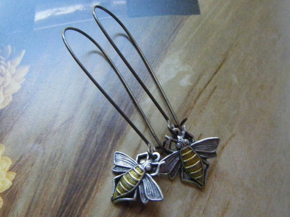 Busy Bees Earrings/FREE SHIPPING