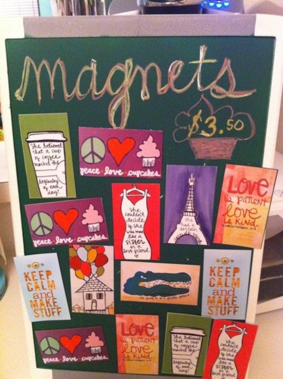 BRAND NEW pretty magnets - you choose