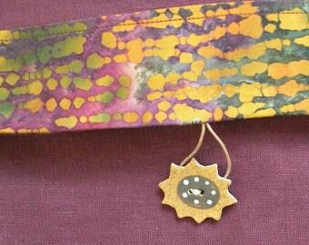 Messenger bag, large iPad handbag, purple cotton canvas purse, sunflower button, shoulder strap, tribal batik lined medium Bohemian bag i795