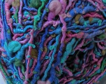 Yarn: 94 yards NORO HOTARU purple pink teal blue green aqua lavender cotton blend yarn