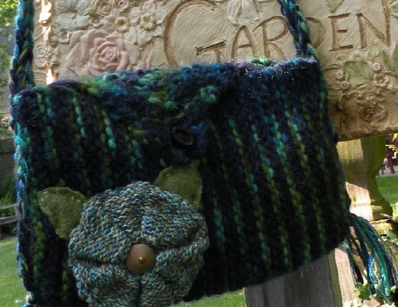 Shoulder bag, Floral purse handbag Bohemian Bag, purple blue teal merino wool lambswool, wearable art boho flower lined i799