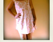 Sweet white and pink sixties vintage shift dress