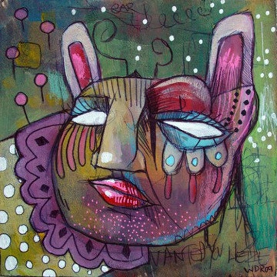 Harem Hunter - Original Mixed Media on Wood