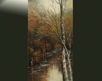 Newer Walk Alone - hand embellished giclee print on CANVAS of original forest painting by Tatiana Iliina