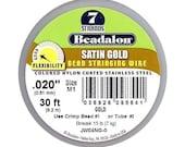 Beadalon Wire Satin Gold 7 Strand .020 Inch / 30Ft - XCR-67943