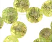 Czech Glass Druk Round Beads 8mm Crackle Light Olivine/Light Amethyst (25) - BCP-78407