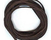 Dark Espresso Brown Faux Leather Suede Necklace Cord 10 Ft. - XCR-4320