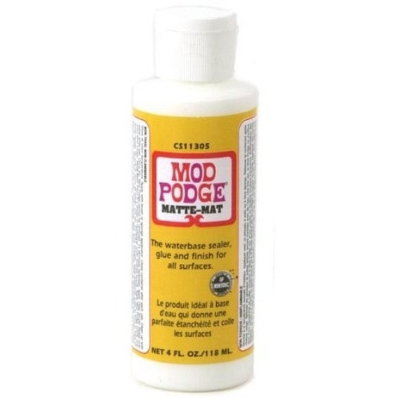 Mod podge matte all in one decoupage sealer glue finish for Matte paint sealant