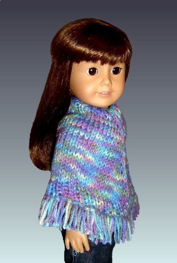 Knitting Patterns For Our Generation Doll Clothes : Knitting Pattern fits 18 inch dolls/American Girl Doll. Poncho PDF, Our Gener...