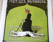 Vintage Bicycle Poster 1900s Victoria Bicycles / Pirelli Tires Poster Size Book Plate