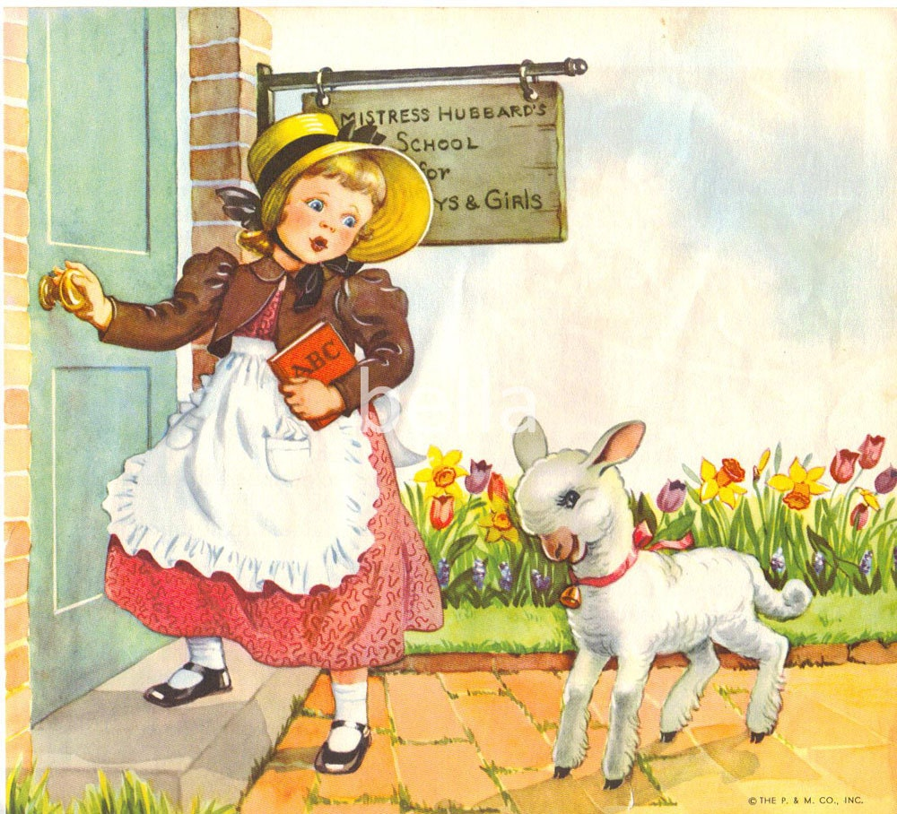 Mary Had A Little Lamb Mother Goose Nursery Rhymes