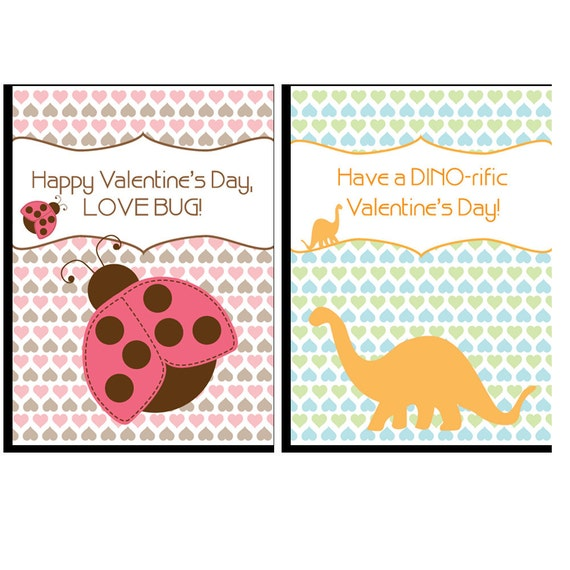 Kids Valentine's Day Cards PRINTABLE PDF ONLY