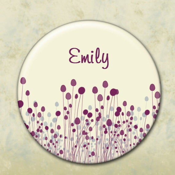 Custom Pocket Mirror, Bridesmaid Gift,   Shower Favor, Wedding Favor