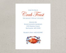 Maryland Blue Crab Invitations